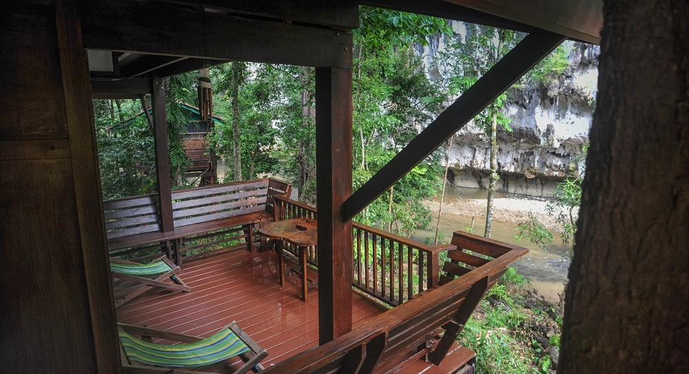 Stunning riverviews from Hapy Nest at Our Jungle House.