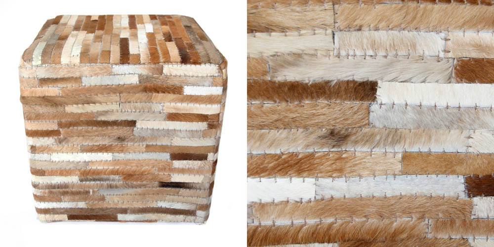 recycled products sandro-cowhide-ottoman