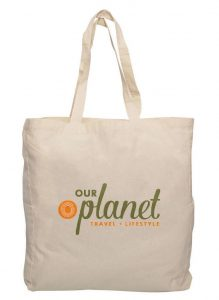 Our planet travel eco bag
