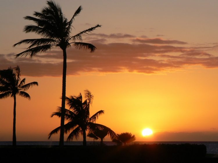 Sunset Waikoloa Hawaii