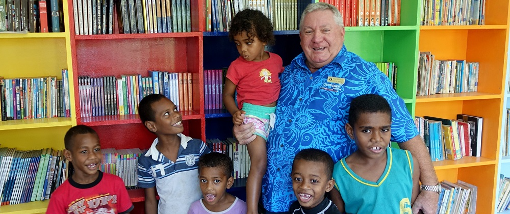 Conua District School's library funded by previous Outrigger guest