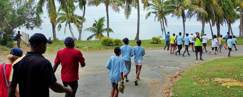 Outrigger Walk for Kids Walkathon begins