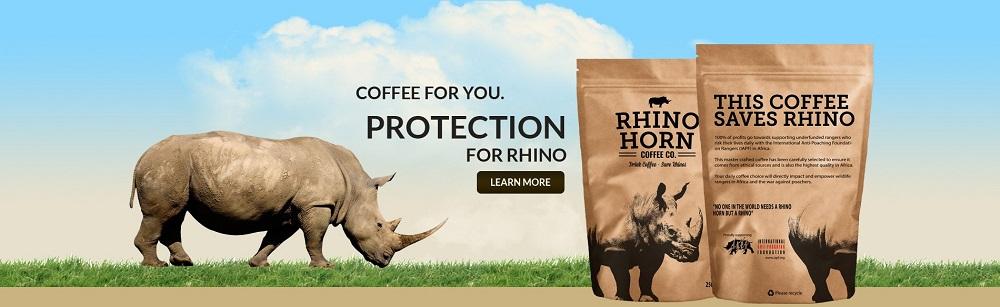 Rhino Horn Coffee saves Rhinos