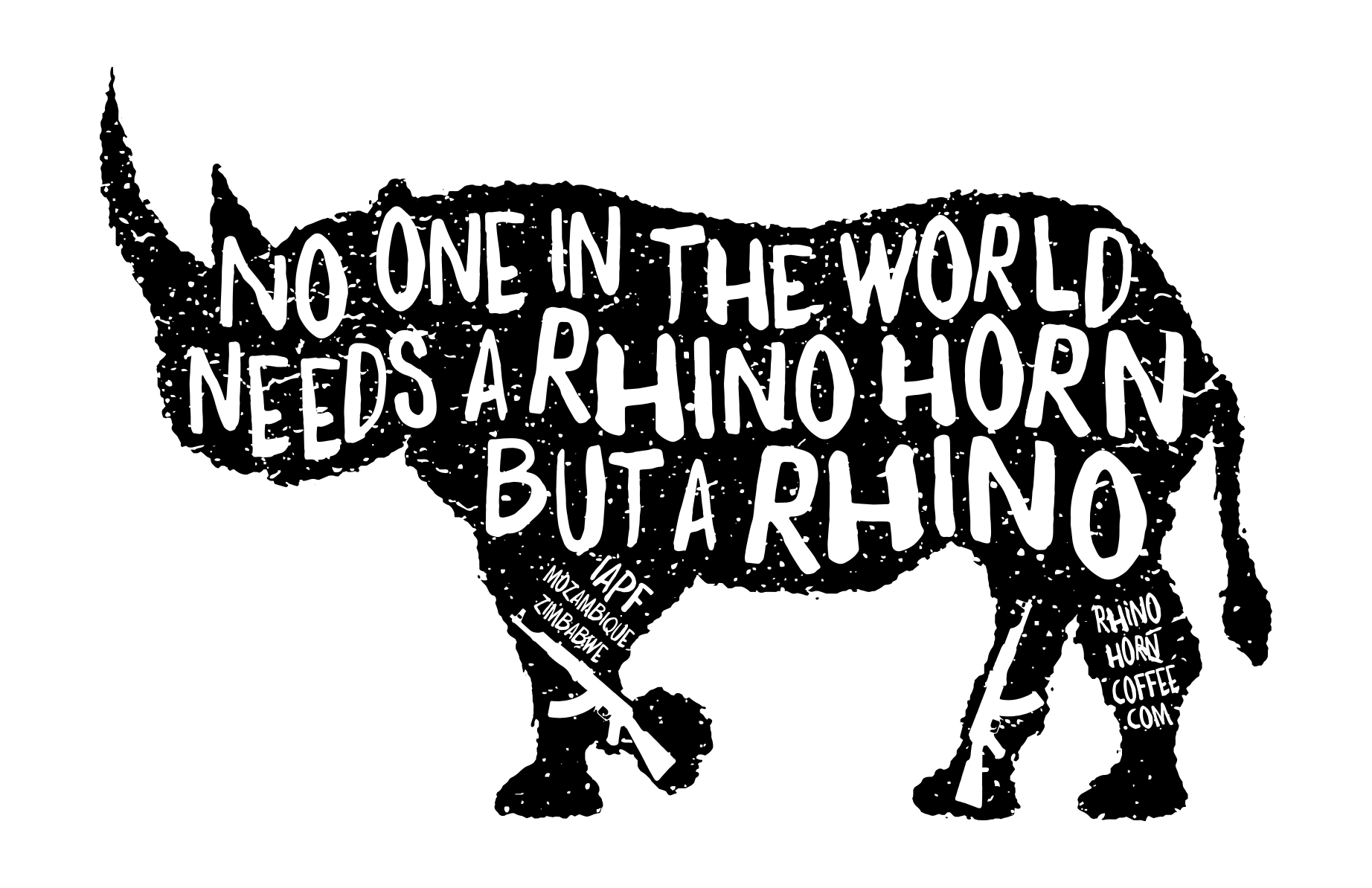 Rhino Horn Coffee slogan