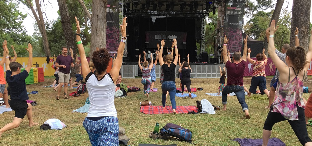 Womadelaide Morning yoga
