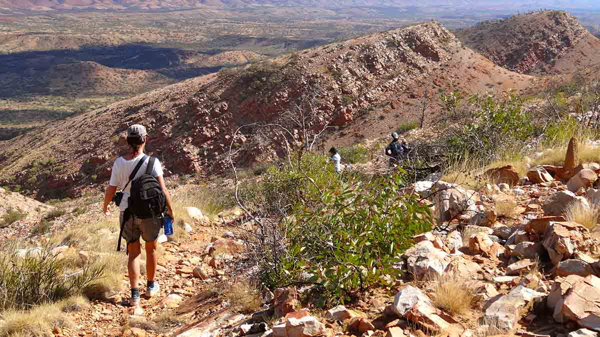 P26_Enjoying the trail with World Expeditions on the 6 day Classic Larapinta Trek